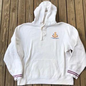 Vintage Polo Ralph Lauren hoodie Bleecker XL white